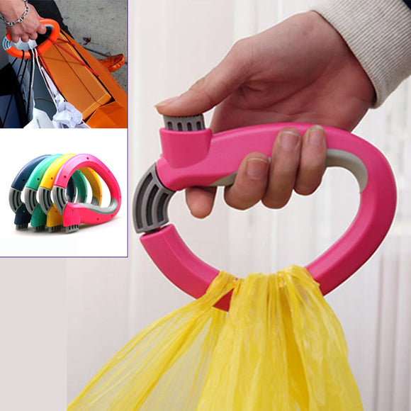 Shopper Holder One Grip Hook For Grocery, Shopping Bags ( Random Colors)
