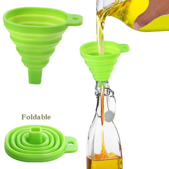 Silicone Foldable Kitchen Funnel