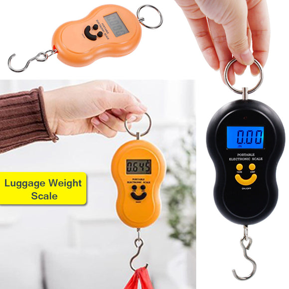 Mini Portable Digital Luggage Weight Scale With Backlit LCD