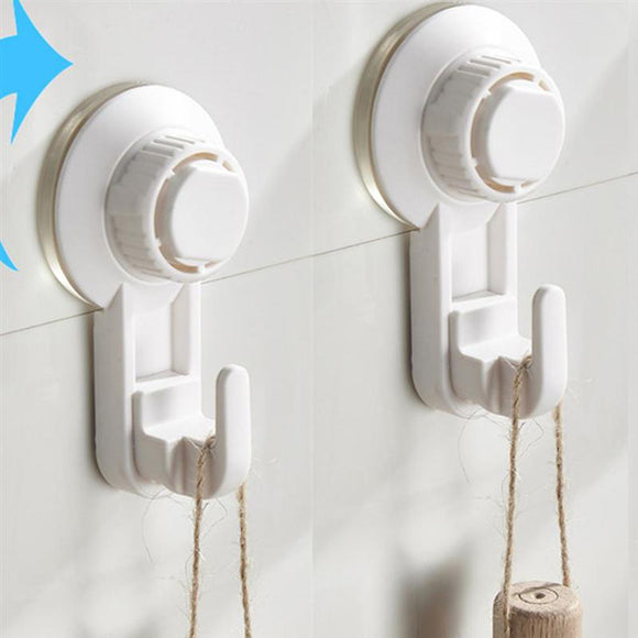 Pack Of 2pcs Vacuum Suction Hooks ( Sticks On Tiles, Marbles, Glass & Wood )