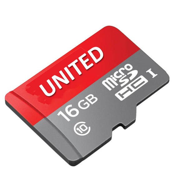 UNITED Branded 16gb Storage Flash Speed HC-1 Class-10 Micro SD-Card
