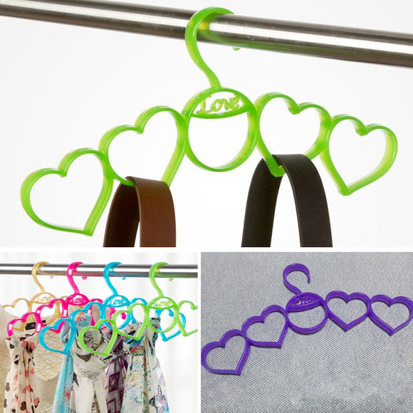 5-in-One Heart Shape Scarf & Dupata Hanger Holder & Organizer ( Random Colors )