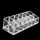 12-Grid Acrylic Rectangle Shape Lipstick Organizer