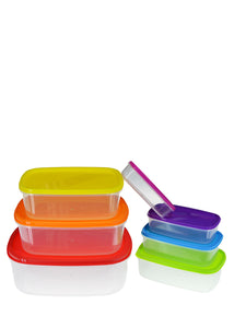 Rectangle Multicolor Plastic 7-Pcs Storage Boxes
