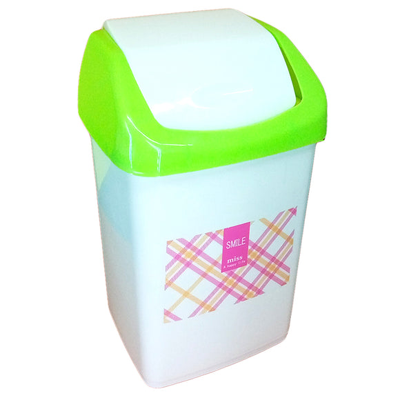 Smile Medium Size Plastic Dust / Waste Bin With Cover
