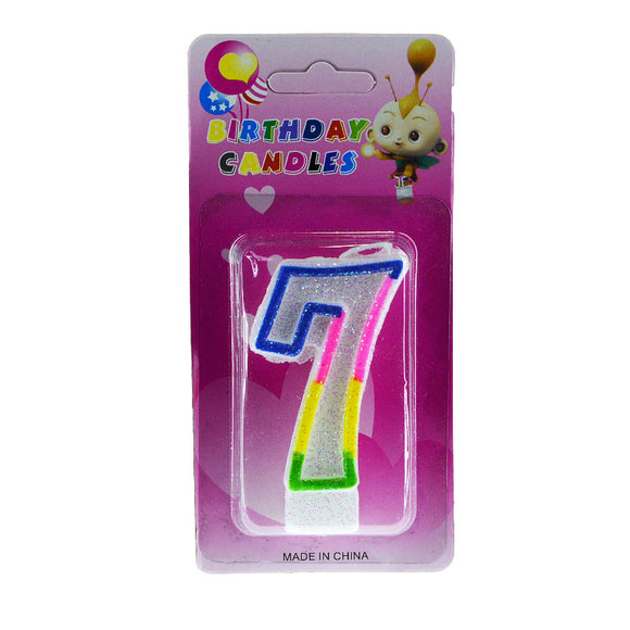 Number 7 Birthday Candle