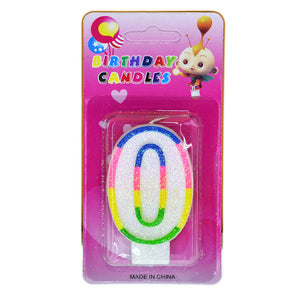 Number 0 Birthday Candle