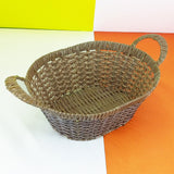 Antique Crafted Oval Medium Size Multipurpose Fruit Basket