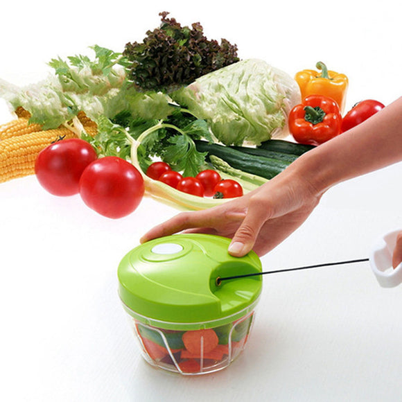 Green Smart Compact Small Size Quick Speedy Vegetables Pull Chopper