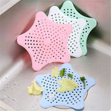 Star Shaped Silicone Kitchen Sink Strainer Filter ( Random Colors)