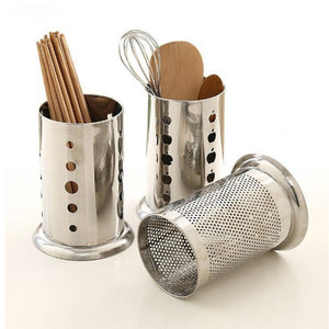 Stainless Steel Cutlery & Multi-Purpose Stand Dotted Design ( One Piece )