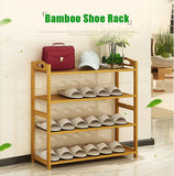 Bamboo Wooden 4-Layer Home Decor Shoes Rack