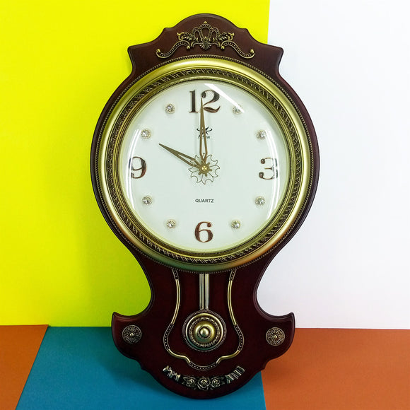 Antique Home Decor Pendulum 26 X 15 inches Wall Clock