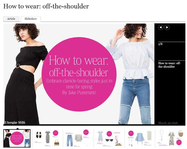 How to wear #offtheshoulder | Times Fashion