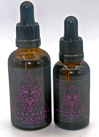 Rhodonite Beard Oil - Lavender, Ylang, Lemon