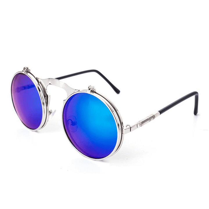 Vintage Steampunk Flip-Up Sunglasses - Steam Pumped