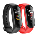 Smart Bracelet M4 Wristband For IPhone With Heart Rate Function Waterproof Touch Screen Bluetooth Control Fitness Pedometer