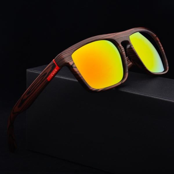 Ember-Dark Premium Bamboo Wood Sunglasses - Steam Pumped