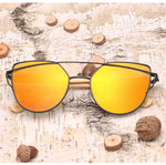 Exclusive Cat-Eye Bamboo Wood Sunglasses - Steam Pumped