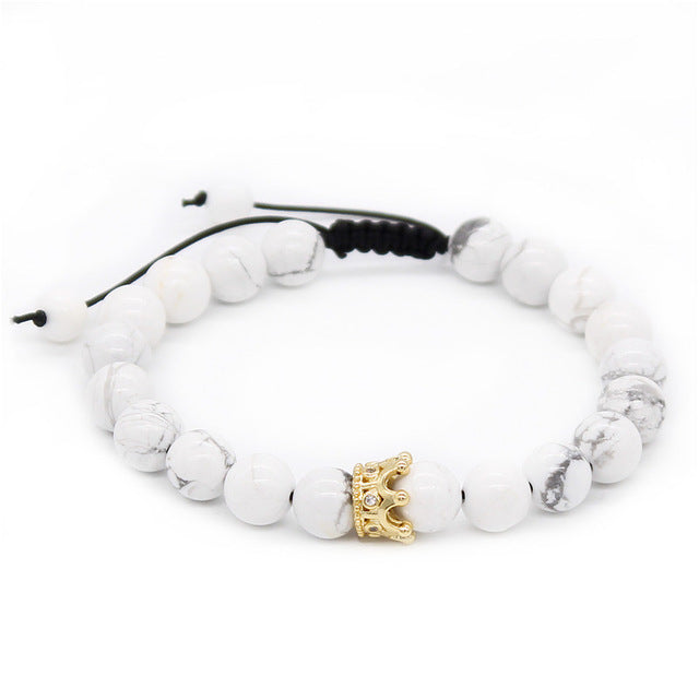 King and Queen Crowned Bracelets - Steam Pumped