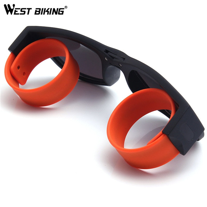 Folding Sunglasses Slap and Clip On Wrist, Bikes for Adults and Kids - Steam Pumped