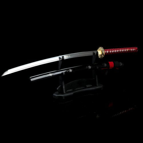Red Night Dragon Katana Samurai Sword
