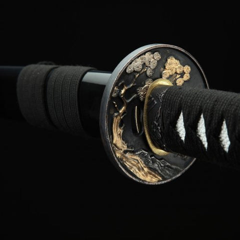 Black Dragon Katana Samurai Sword