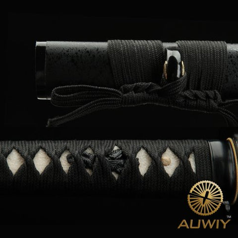 Black Night T10 Clay Tempered Folded Katana Samurai Sword