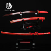 Red Steel Folded Katana Samurai Sword