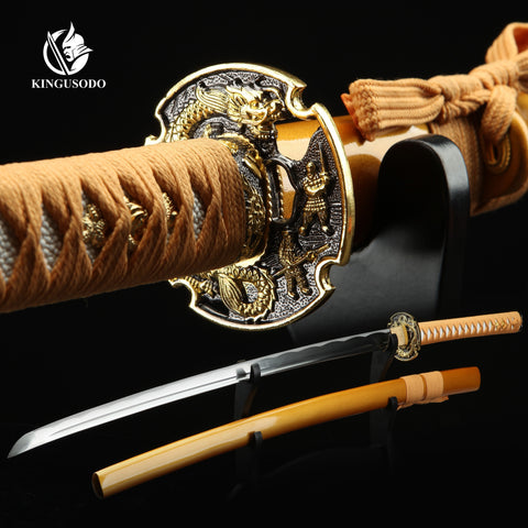 Katana 1045 Carbon Steel, Real Handmade Japanese Style Sharp Katana Sword