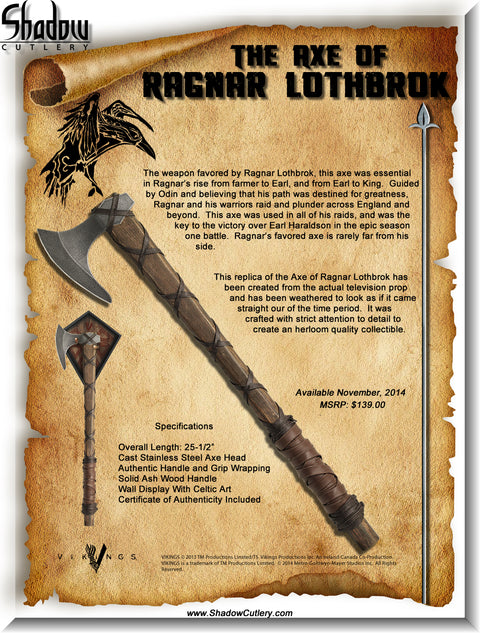 Vikings - Axe of Ragnar Lothbrok - Standard Edition