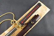 Mon Clay Tempered Folded Katana Samurai Sword