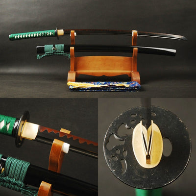 Matsu Clay Tempered Folded Katana Samurai Sword