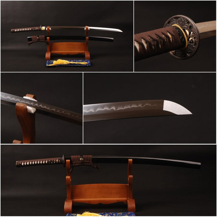Kukiko Clay Tempered Folded Katana Samurai Sword