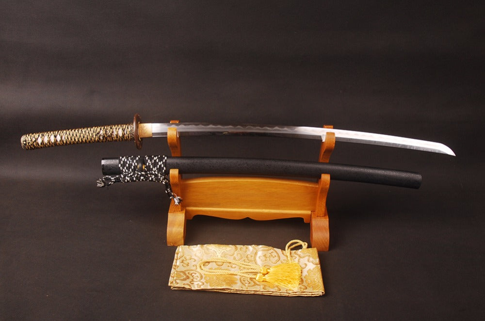 Mitsuko Clay Tempered Folded Katana Samurai Sword