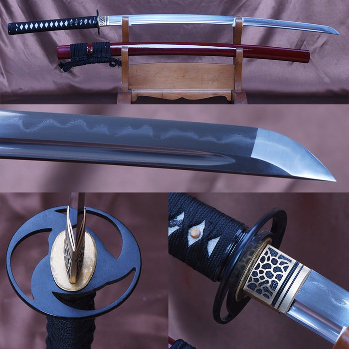 Misao Clay Tempered Folded Katana Samurai Sword