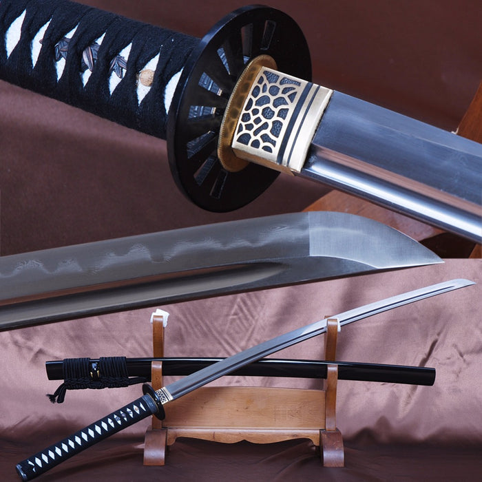 Kome Clay Tempered Folded Katana Samurai Sword