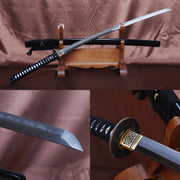Nagisa Clay Tempered Folded Katana Samurai Sword