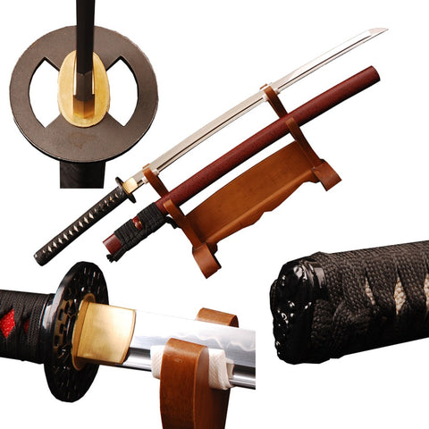 Nami Clay Tempered Folded Katana Samurai Sword