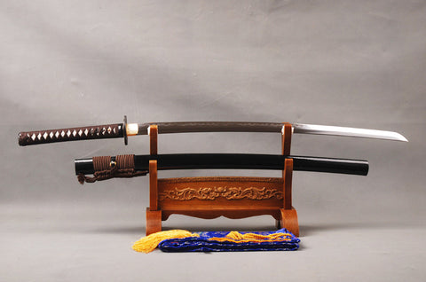 Midori Clay Tempered Folded Katana Samurai Sword