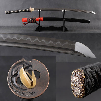 Mikie Clay Tempered Folded Katana Samurai Sword