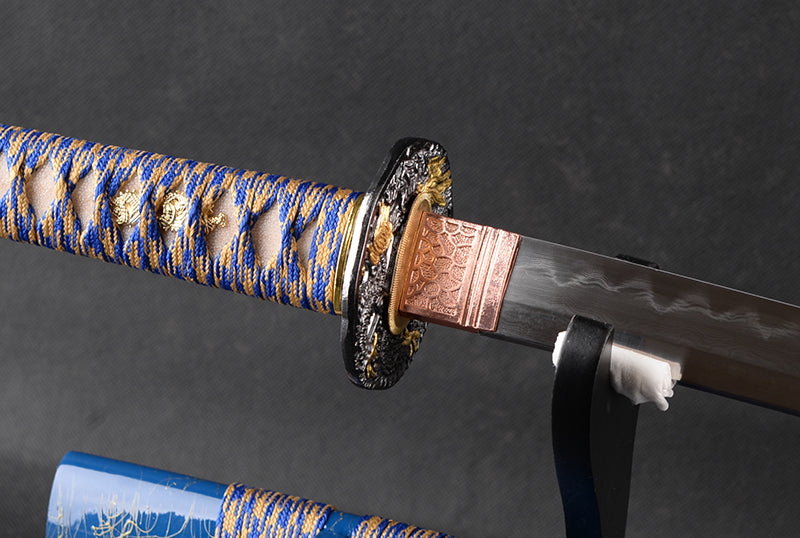 Morie Clay Tempered Folded Katana Samurai Sword