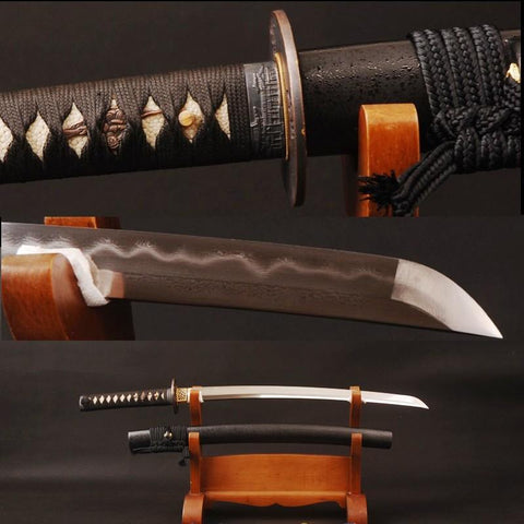 Cuifen Clay Tempered Folded Wakizashi Samurai Sword