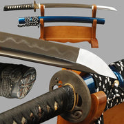 Daiyu Clay Tempered Folded Wakizashi Samurai Sword