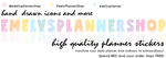 EmelysPlannerShop - Planner Stickers for your Live Planner