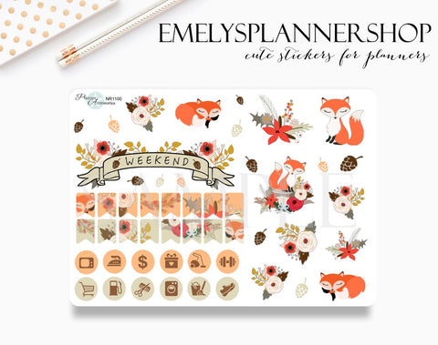 Woodland Fall Stickers NR1100