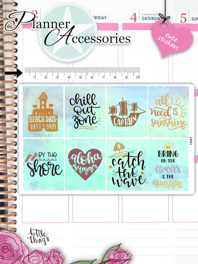 Summer Quote Stickers 2586