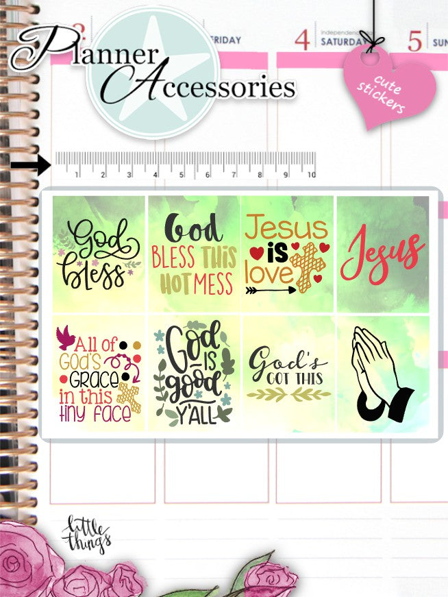 Christian Bible Verse Stickers 2594