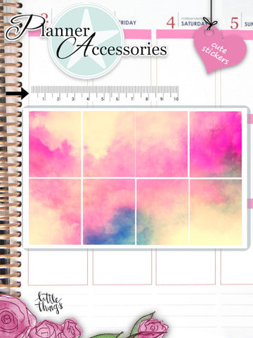 Watercolor Stickers 2599