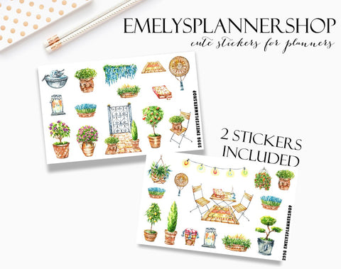 Garden Flowers Sticker Set 2998